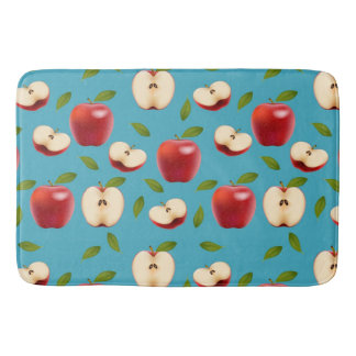 Red Apple Pattern Bath Mat