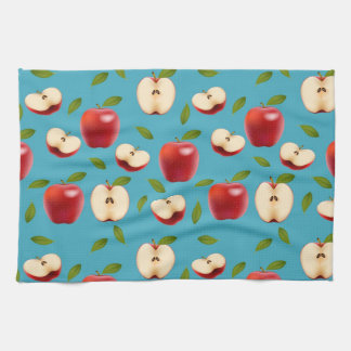 Red Apple Pattern Hand Towels