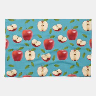 Red Apple Pattern Kitchen Towel
