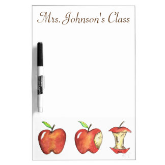 Red Apple Personalized School Class Teacher Gift Dry Erase Board