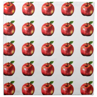 Red Apple Picture Art Design Napkin