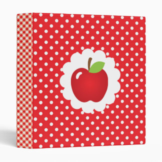Red Apple Recipe Vinyl Binder