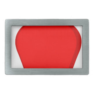 Red Apple Rectangular Belt Buckle