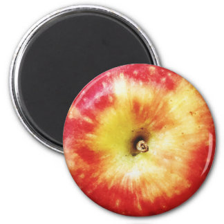 Red Apple Round Magnet