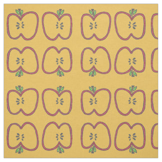 Red Apple Slices Fabric