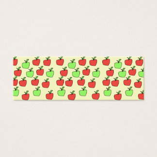 Red Apples and Green Apples, Pattern, on Cream. Mini Business Card