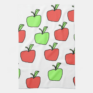 Red Apples and Green Apples Pattern. Towels