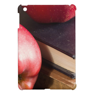 Red apples and old vintage book iPad mini cases