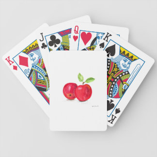 Red apples fruity painting gardener gift bicycle playing cards