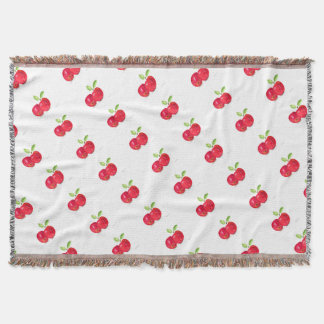Red apples fruity painting gardener gift throw