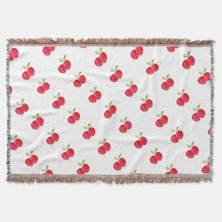 Red apples fruity painting gardener gift throw blanket