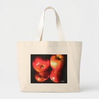 red apples large tote bag
