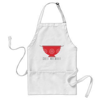 Red Apron Personalized, Red Colander, Your Name