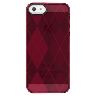 Red Argyle Clear iPhone SE/5/5s Case