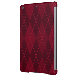 Red Argyle Cover For iPad Air