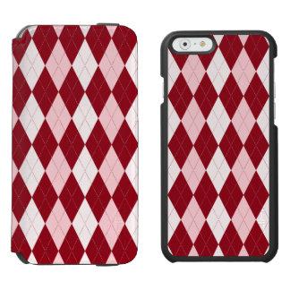 Red Argyle Crimson Pink Small Diamond Shape Incipio Watson™ iPhone 6 Wallet Case