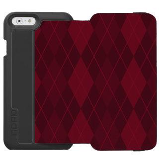 Red Argyle Incipio Watson™ iPhone 6 Wallet Case