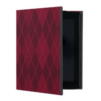 Red Argyle iPad Case
