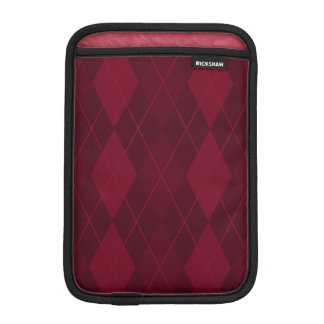 Red Argyle iPad Mini Sleeve