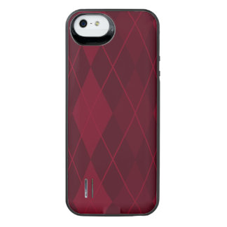 Red Argyle iPhone SE/5/5s Battery Case