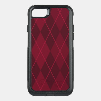 Red Argyle OtterBox Commuter iPhone 7 Case