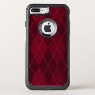 Red Argyle OtterBox Commuter iPhone 8 Plus/7 Plus Case