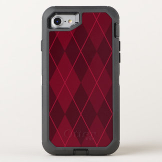 Red Argyle OtterBox Defender iPhone 8/7 Case