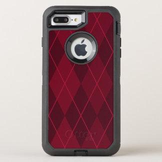 Red Argyle OtterBox Defender iPhone 8 Plus/7 Plus Case