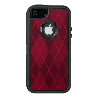 Red Argyle OtterBox Defender iPhone Case