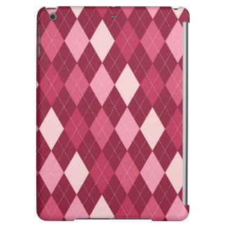 Red argyle pattern cover for iPad air