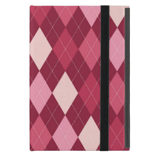 Red argyle pattern cover for iPad mini
