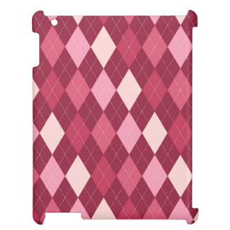 Red argyle pattern cover for the iPad 2 3 4