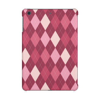 Red argyle pattern iPad mini retina case