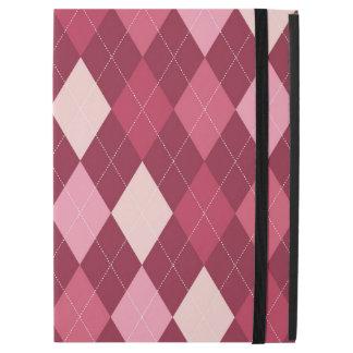 "Red argyle pattern iPad pro 12.9"" case"