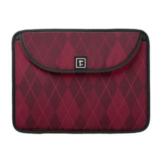 Red Argyle Sleeve For MacBooks