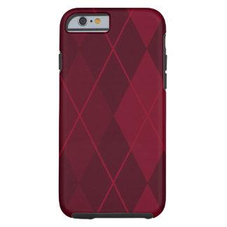Red Argyle Tough iPhone 6 Case