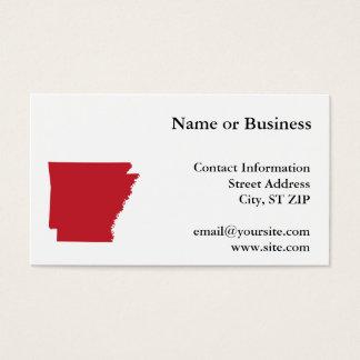 Red Arkansas Business Card