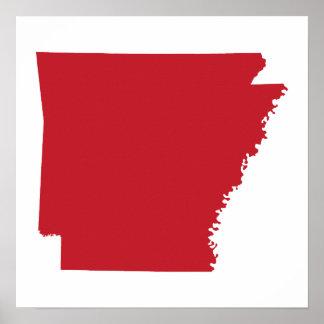 Red Arkansas Poster
