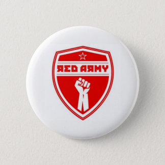 Red Army Hockey Badge White 2 Inch Round Button