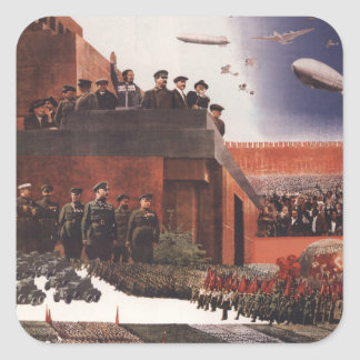 Red Army Square Sticker