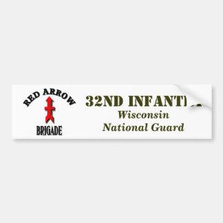 Red Arrow Brigade Military Bumper Sticker