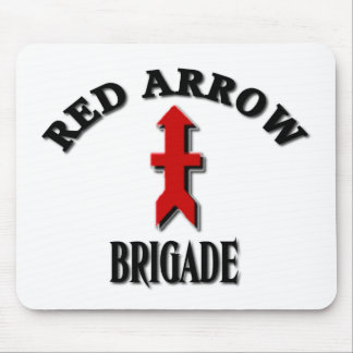 Red Arrow Brigade Wisconsin National Guard Mouse Pad