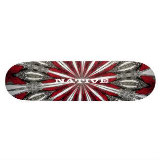 Red Arrow Medallion Customizable Text Skateboard