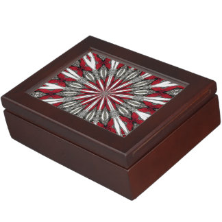 Red Arrow Medallion Memory Boxes