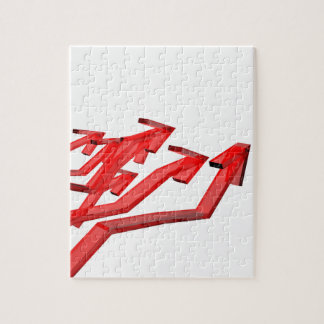 Red arrows jigsaw puzzle
