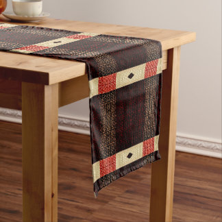Red Arrows Rustic Stripe Pattern Table Runner