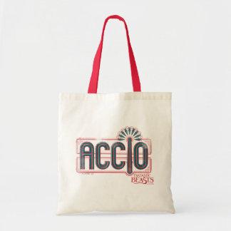 Red Art Deco Accio Spell Graphic