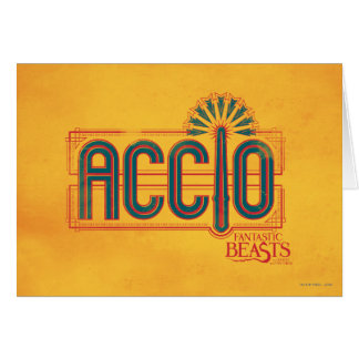 Red Art Deco Accio Spell Graphic Card