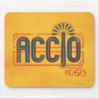 Red Art Deco Accio Spell Graphic Mouse Pad