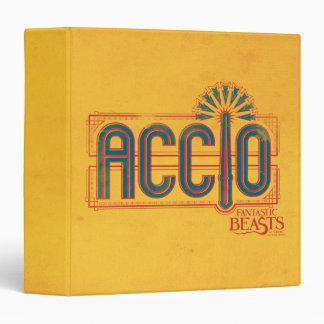 Red Art Deco Accio Spell Graphic Vinyl Binder